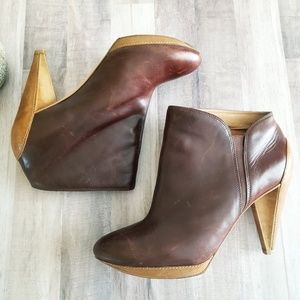 Fossil Allison Leather Ankle Boots size 8.5